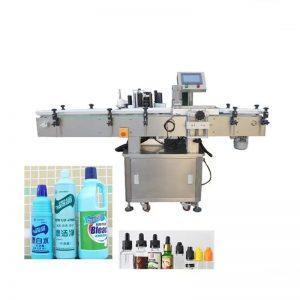 Etichettatrice per flaconi fluidi disinfettanti automatici