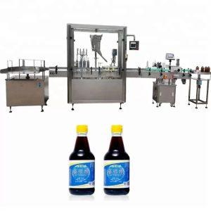 Tappatrice per bottiglie di vetro con controllo PLC con 4 ugelli